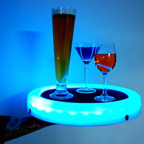 Glowing Drink Platters