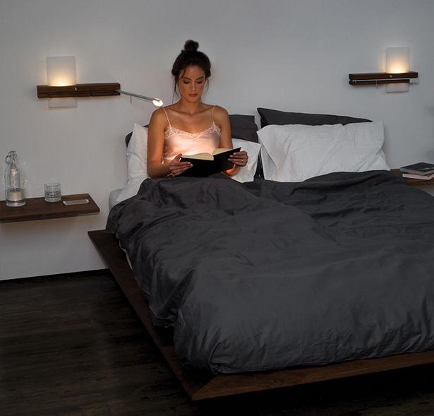 Contemporary Timber Bedside Illuminators