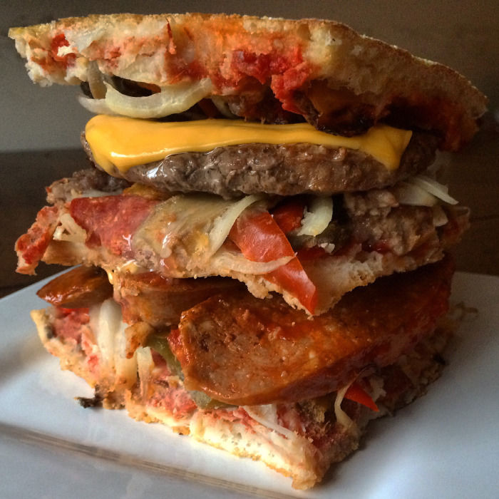 Pizza Stacked Sandwiches