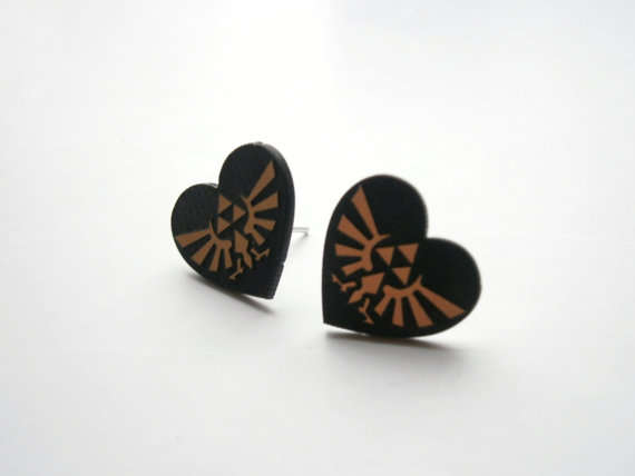 Heartfelt Gamer Chic Studs
