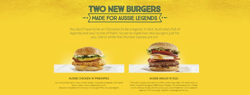 Legendary Burger Menus