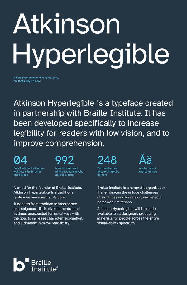 Inclusively Legible Typefaces