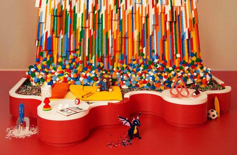 Artistic LEGO Installations