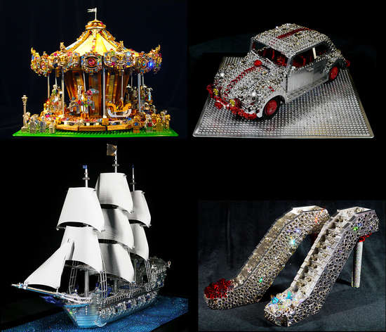 Blinged-Out Toy Sculptures