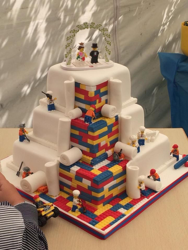 LEGO-Inspired Wedding Cakes