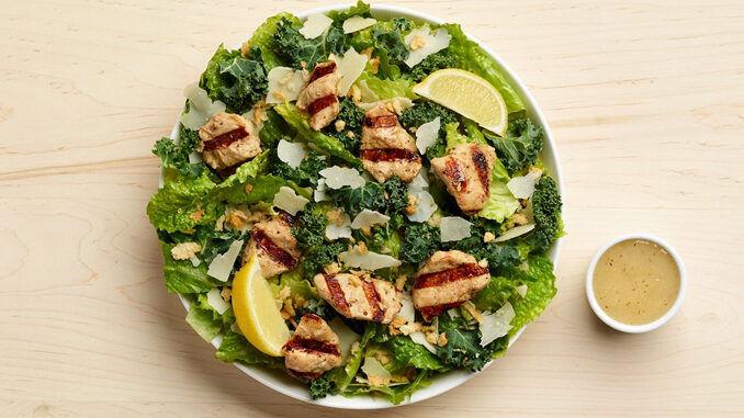 Lemon Kale Caesar Salads