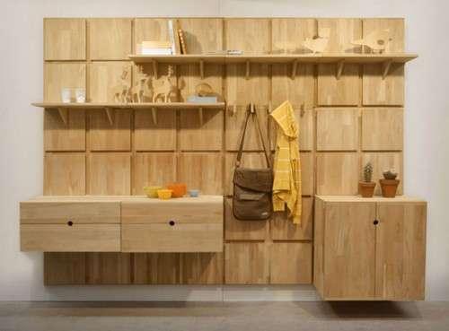 Gridded Timber Organizers Lenga Modular System