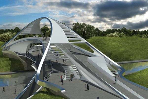 Sculptural Pavilion Overpasses