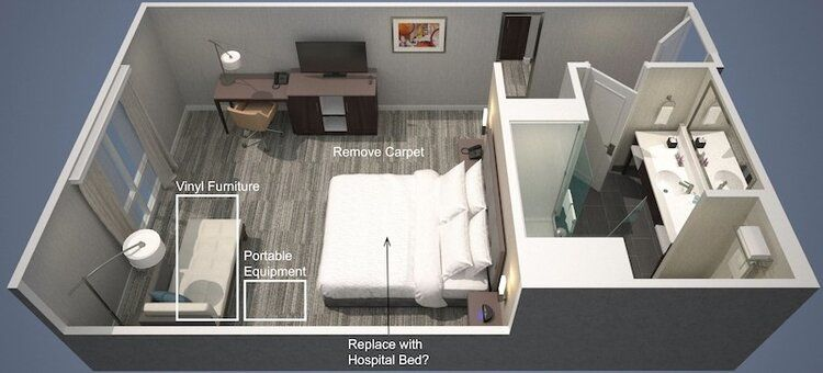 Hotel Pivoted Hospital Concepts