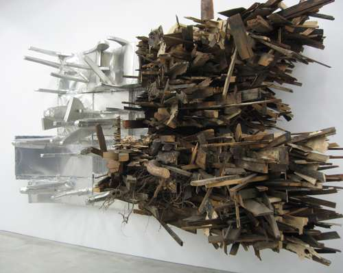 Chaotic Wood Scrap Sculptures