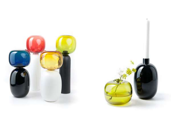 Bright Bubble Vases