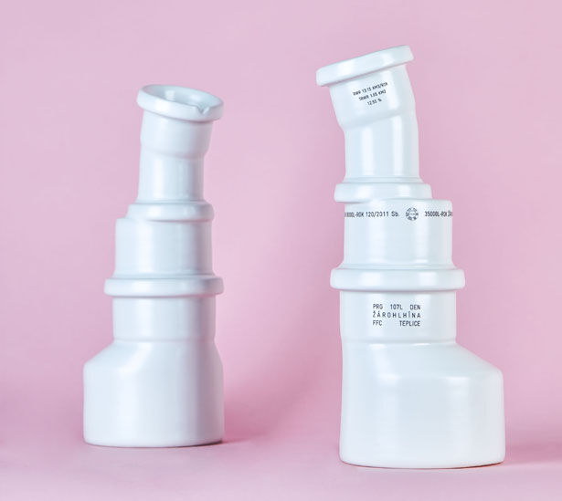 Wastewater Pipe-Inspired Cups