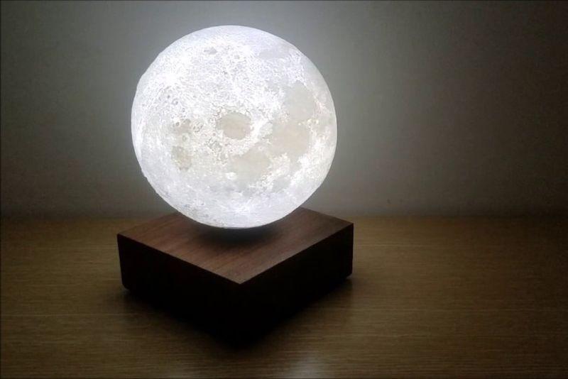 Levitating Lunar Lamps
