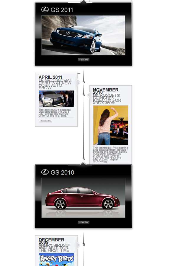 Interactive Automaker Timelines