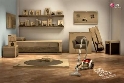 Cardboard Box Furniture Ads