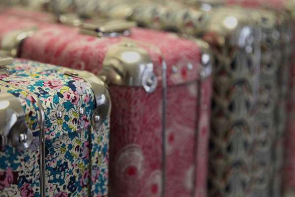 Funky Floral Suitcases