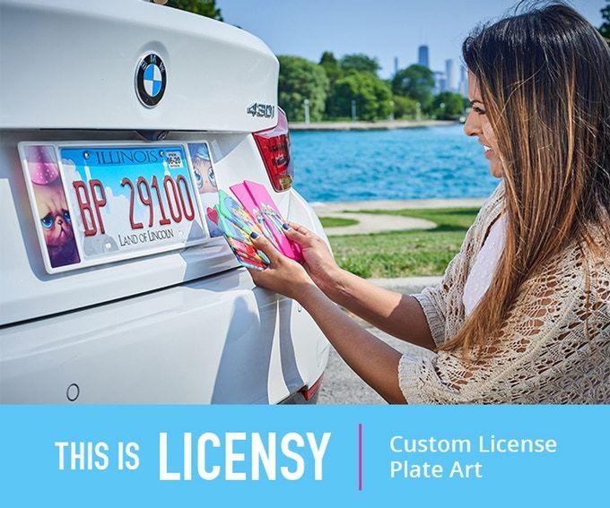 License Plate Artwork Holders