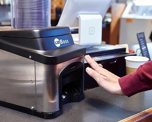 Contact-Free Cup Lid Dispensers