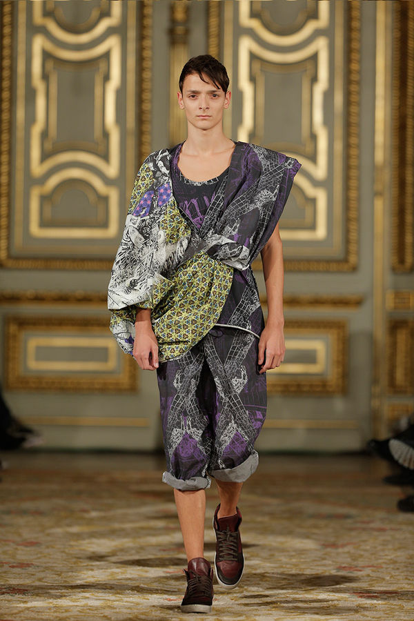 Sculpturally Draped Runways