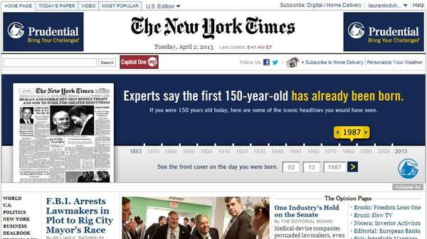 Interactive Front Page Ads