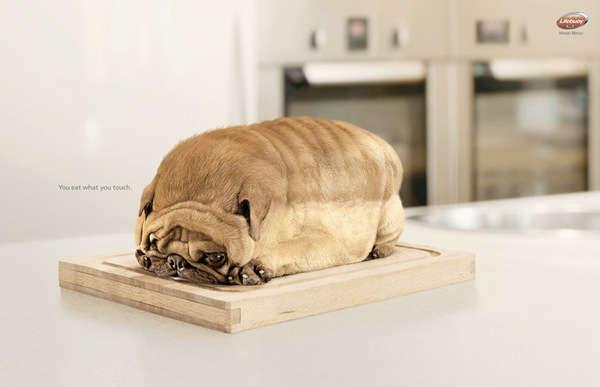 Food-Shaped Animal Ads