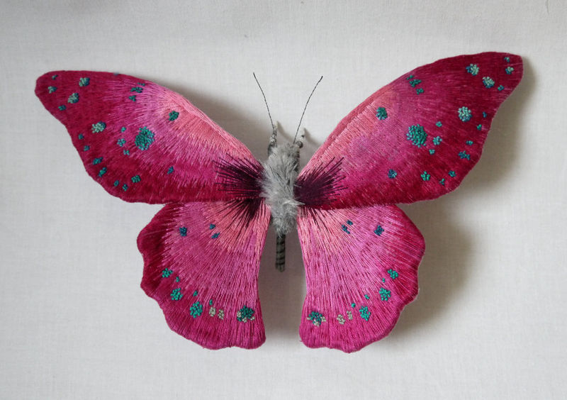 Lifelike Butterfly Sculptures