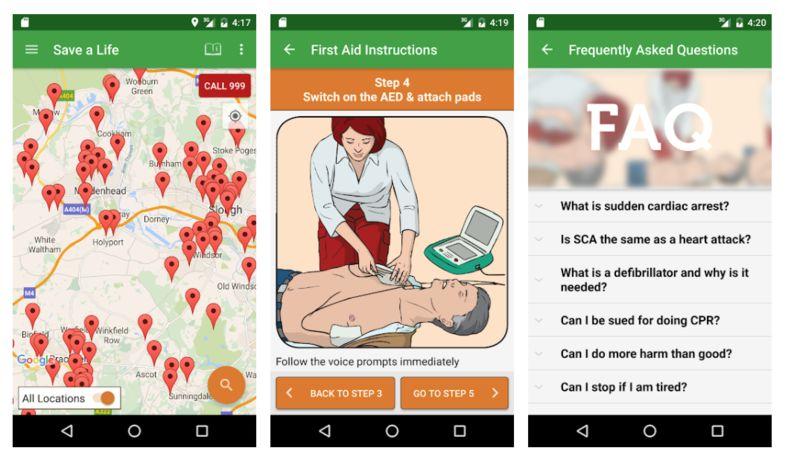 Defibrillator-Detecting Apps