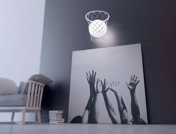 Basketball-Inspired Lamps