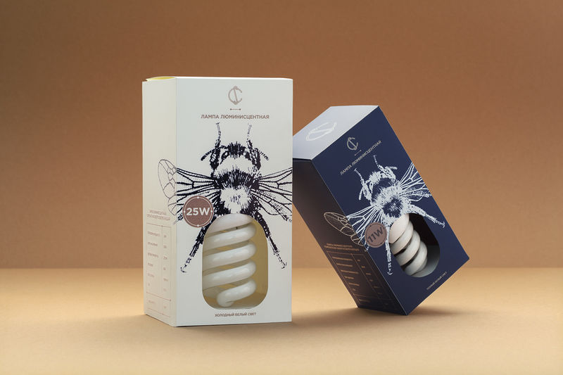Insect-Themed Light Bulb Branding