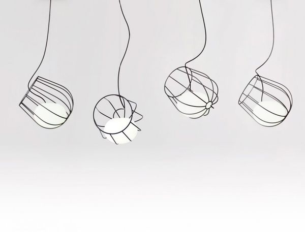 Wireframe Lightbulb Baskets