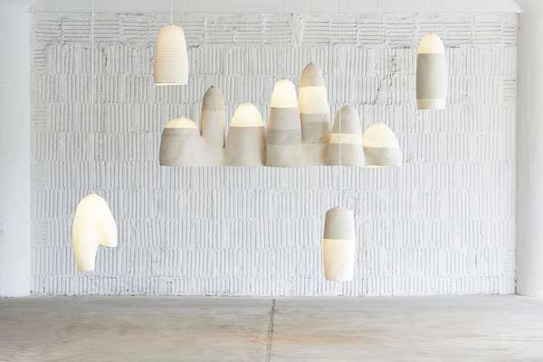Mountainous Fabric Lamps