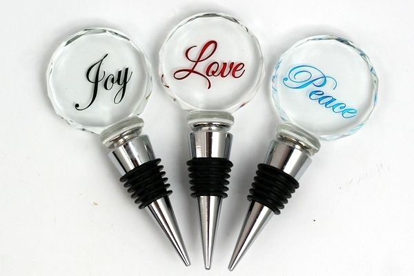 Glowing Festive Wine Stoppers