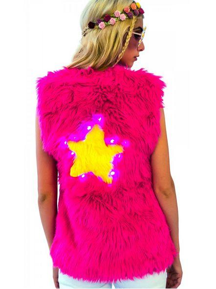 Illuminating Fur Vests