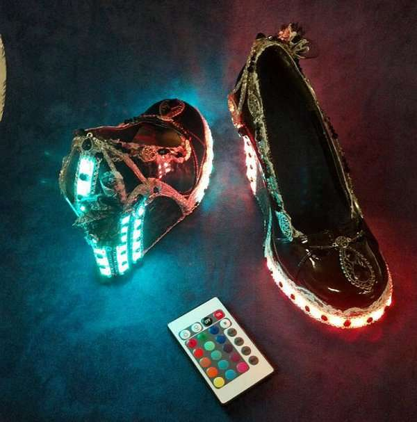 Flashing Luminescent Footwear