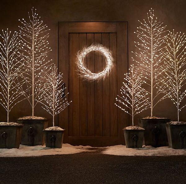 Home Design Business Ideas: Sparkling LED Christmas Trees : Light Up Trees