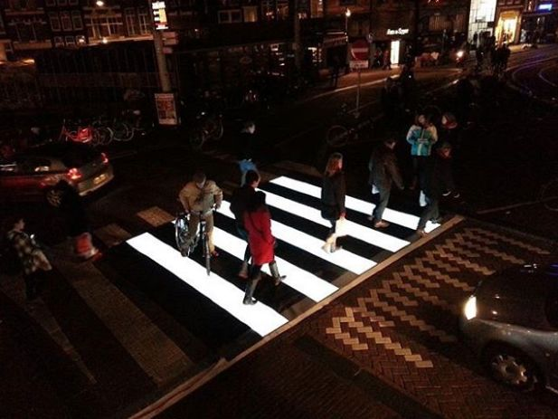 Lighted Pedestrians Crosswalks