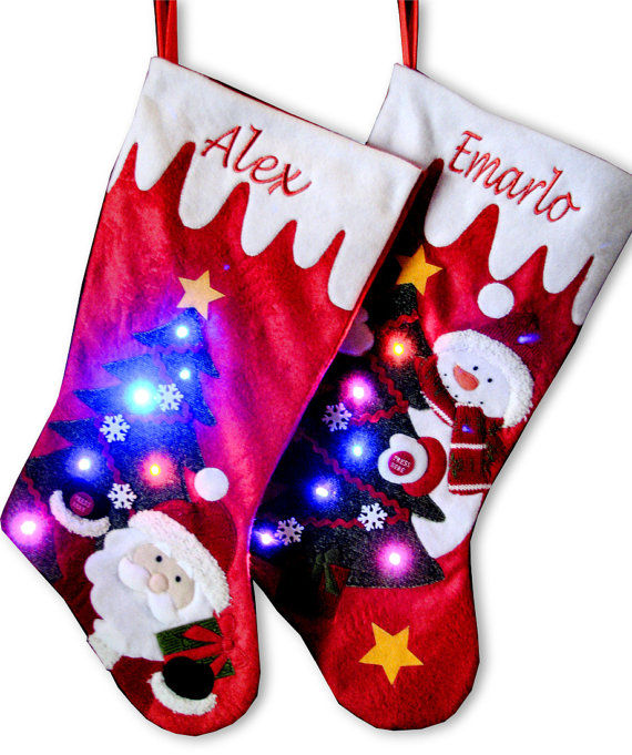 Glowing Christmas Stockings