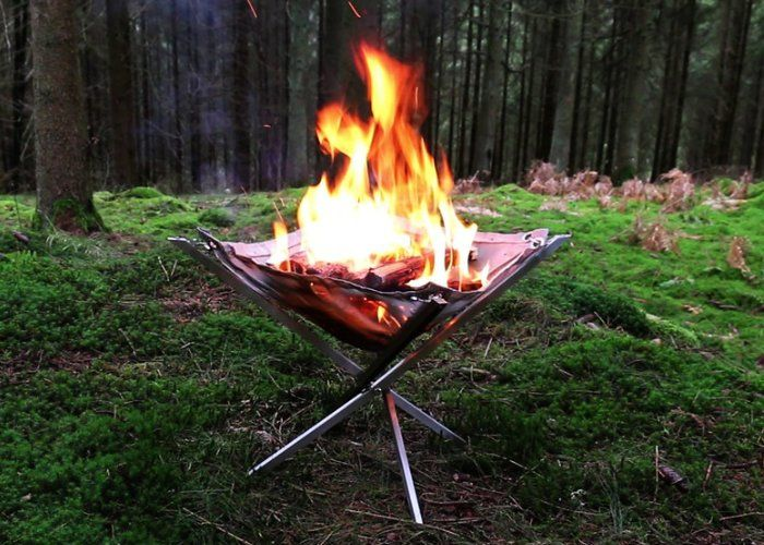 Collapsible Camper Fire Pits : lightweight portable fire pit