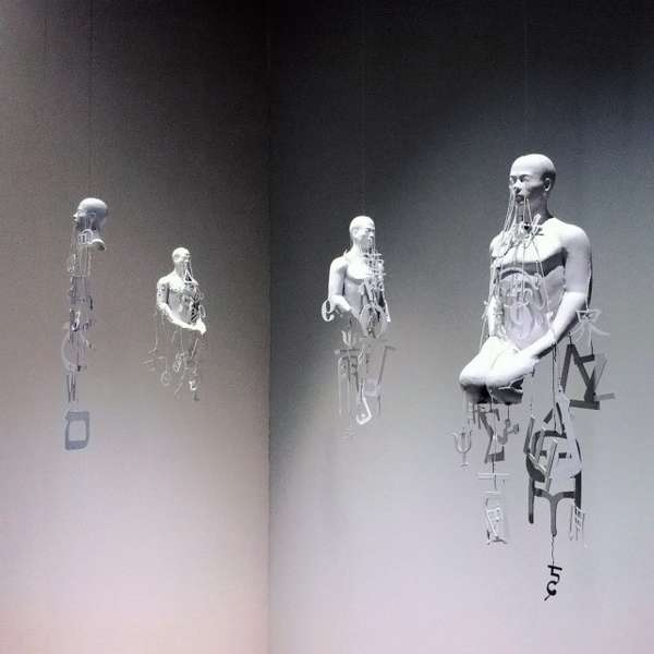 Suspended Typographic Sculptures