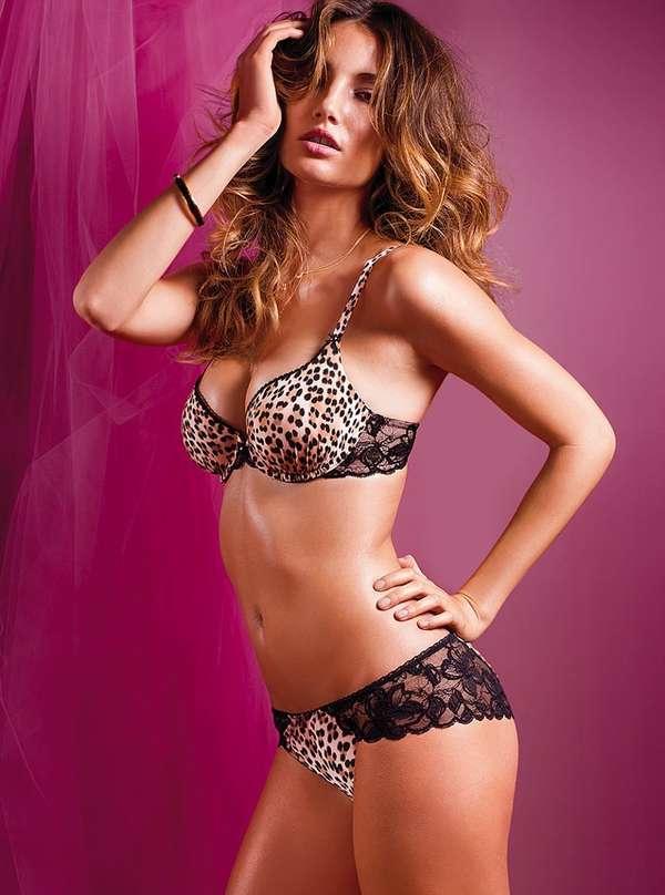 Leopard Lingerie Sets : Lily Aldridge