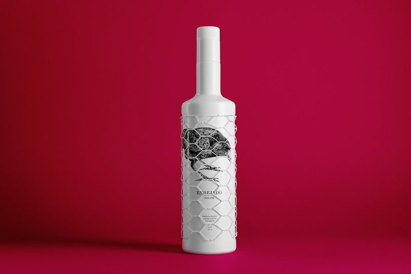 Mesh-Covered Gin Bottles