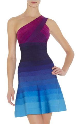 Chic Ombre Bandage Dresses