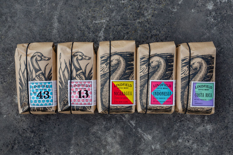 Avian-Themed Coffee Bags