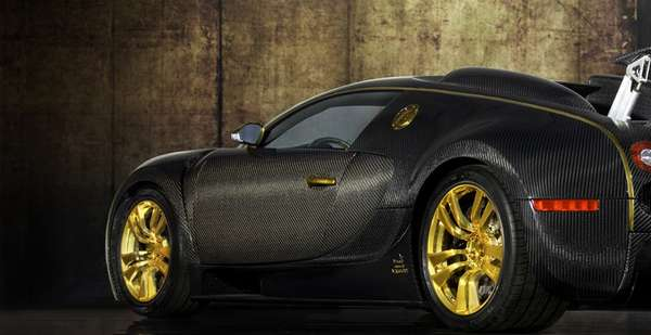Gold-Trimmed Supercars