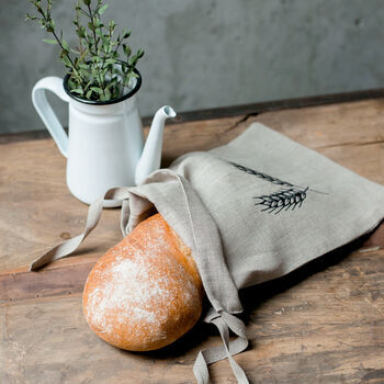 Reusable Linen Bread Bags