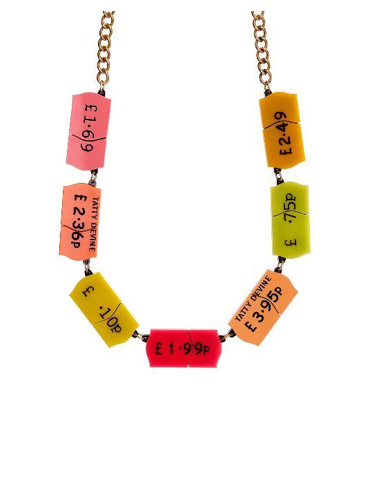 Ticket-Inspired Statement Necklaces