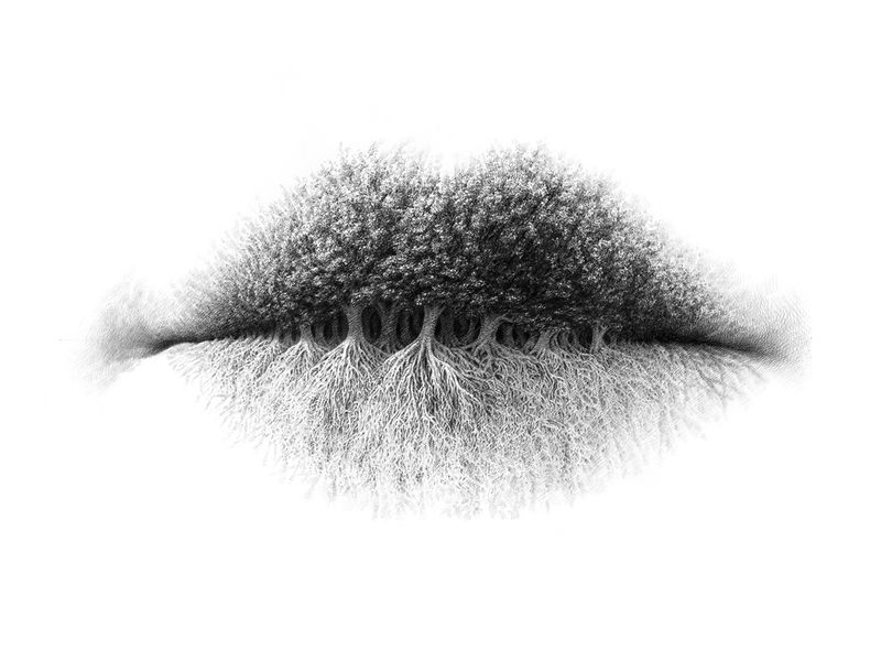 Surreal Lip Drawings