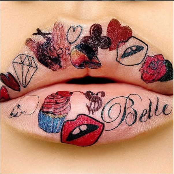 Tattoo Illustration Lip Looks