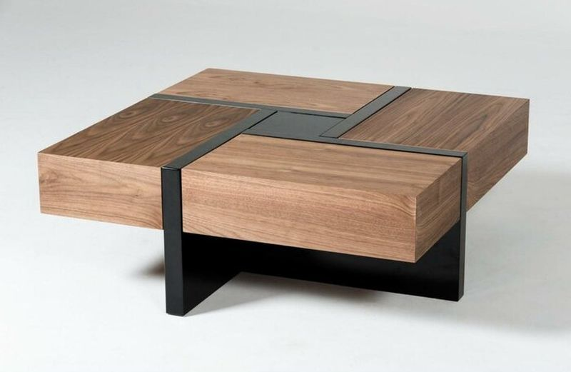 Quad-Drawer Coffee Tables