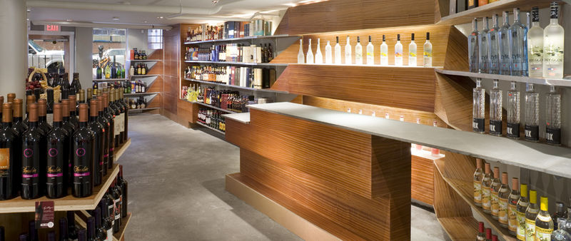 Futuristic Liquor Store Displays
